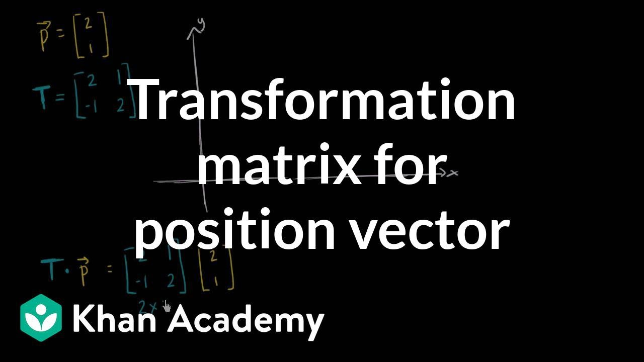 Transforming vectors using matrices (video) | Khan Academy