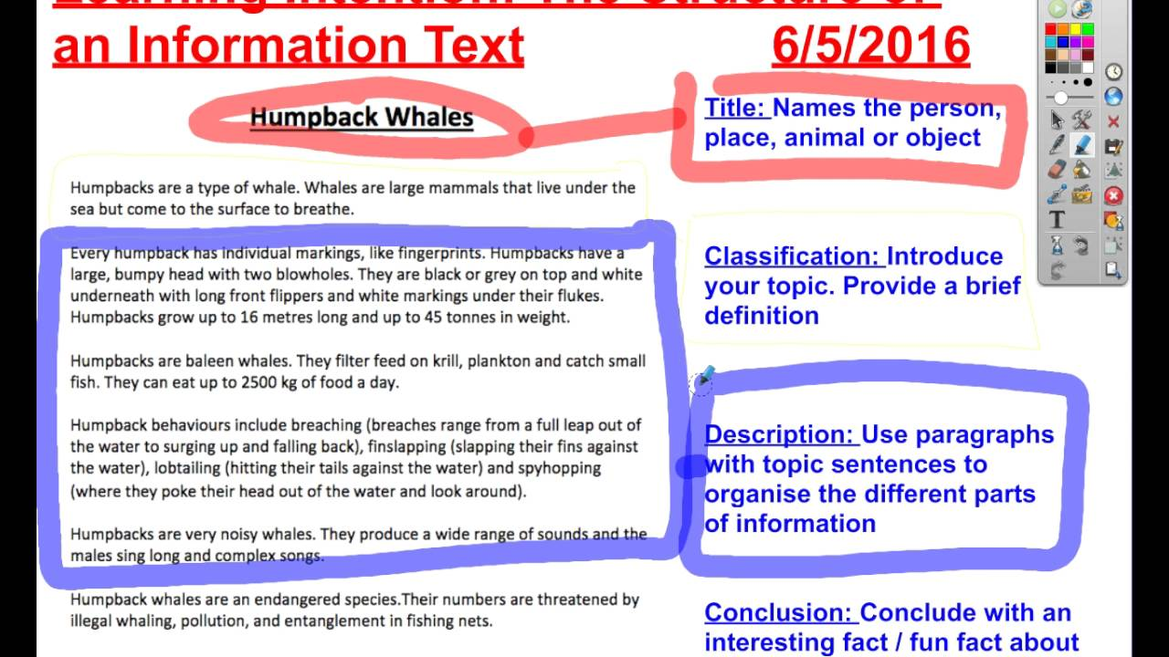 The structure of an information text - Primary School Literacy ...