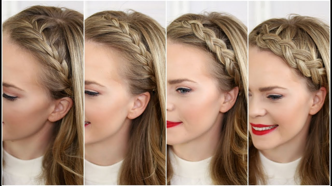 How to weave a braid with a ribbon