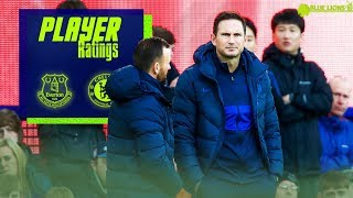 EVERTON 1-3 CHELSEA PLAYER RATINGS || LAMPARD'S WORST GAME || THE LOWEST SCORES OF THE SEASON!