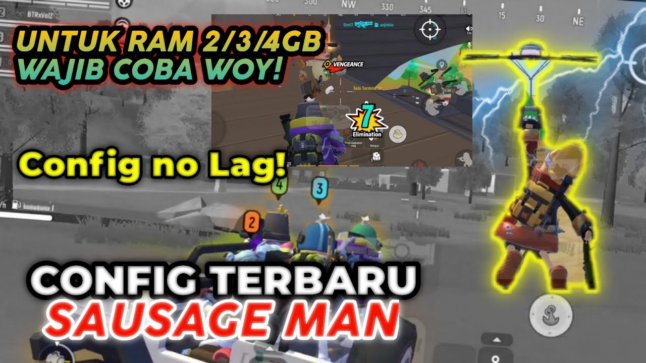 CONFIG NO LAG SAUSAGE MAN RAM 2/3/4 WAJIB COBA NIH   CONFIG SAUSAGE MAN NO LAG TERBARU