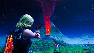 How to ACTIVATE the VOLCANO early by using this EASY glitch in Fortnite! Volcano Eruption Footage!