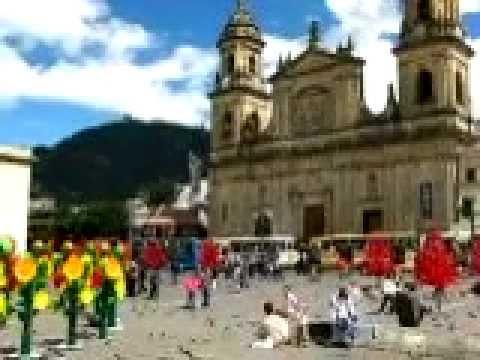 Simon Bolivar square, Bogota Colombia