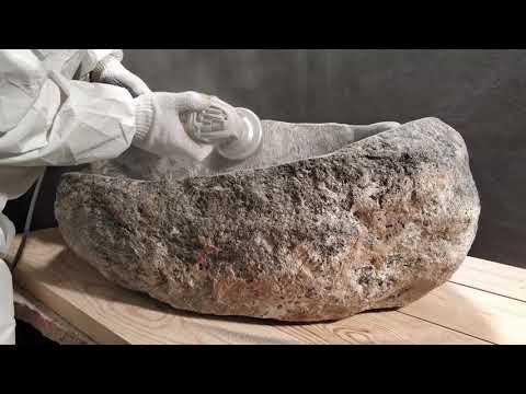 Производство раковины из натурального камня
