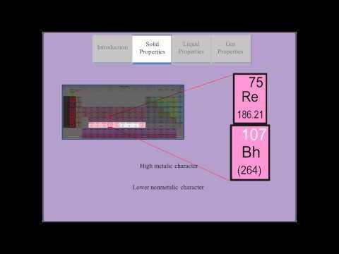 ChemWiki Elemental Minute: Bohrium (Physical Properties)