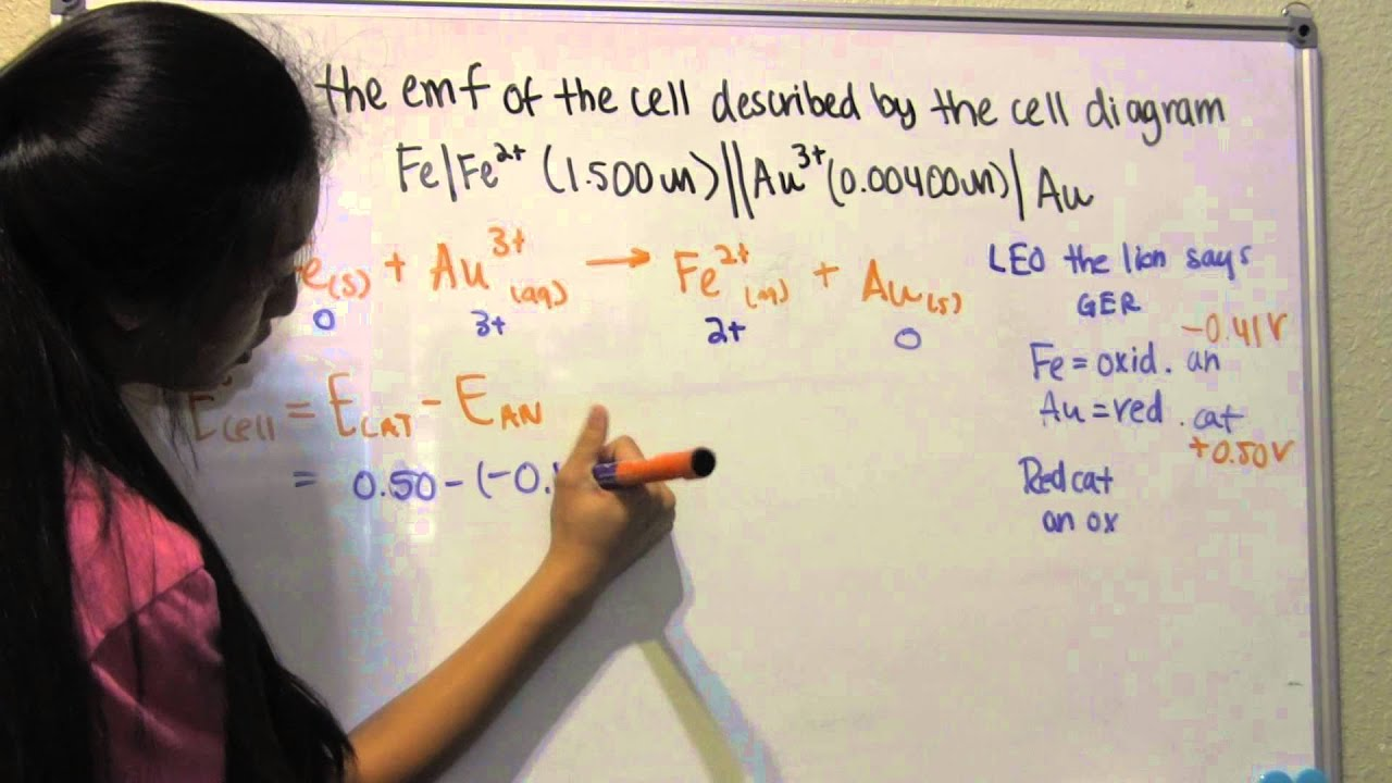 Calculate emf of cell from cell diagram problem 188 youtube calculate emf of cell from cell diagram problem 188 ccuart Gallery