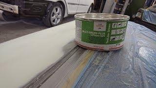 Подготовка и ремонт двери от Camry шпатлевкой Car System Multi Green Plus