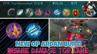 INSANE DAMAGE OP ARDAN BUILD SECRET TOP LANE - BEST TOP LANER VAINGLORY 5V5 UPDATE 3.9 TRICKS