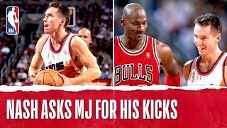 Rookie Steve Nash Asked MJ For His Kicks 👀   #NBATogether