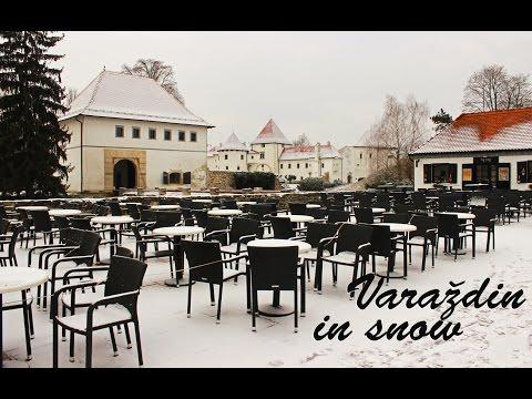 Varaždin in snow - Postcard