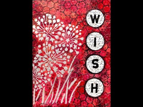 Mixed Media Art Journal Tutorial Coral Wishes thumbnail