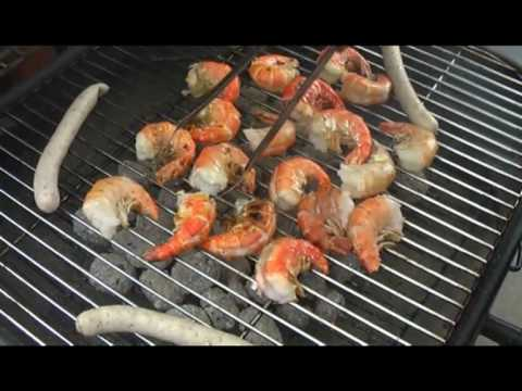 scampis grillen rezept riesengarnelen auf dem grill zubereiten youtube. Black Bedroom Furniture Sets. Home Design Ideas