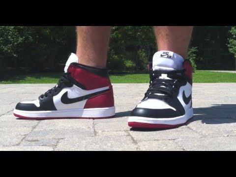 dc8c22330 Air Jordan 1 OG Black Toe On Feet Review - YouTube