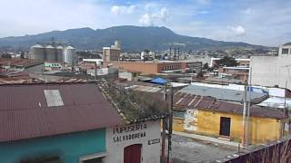 The view of Xela and Volcano Santa Maria