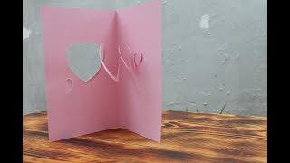 Heart Spiral Pop Up Card - diy - spiral hearts pop up card - tutorial - (Creative Paper Art)