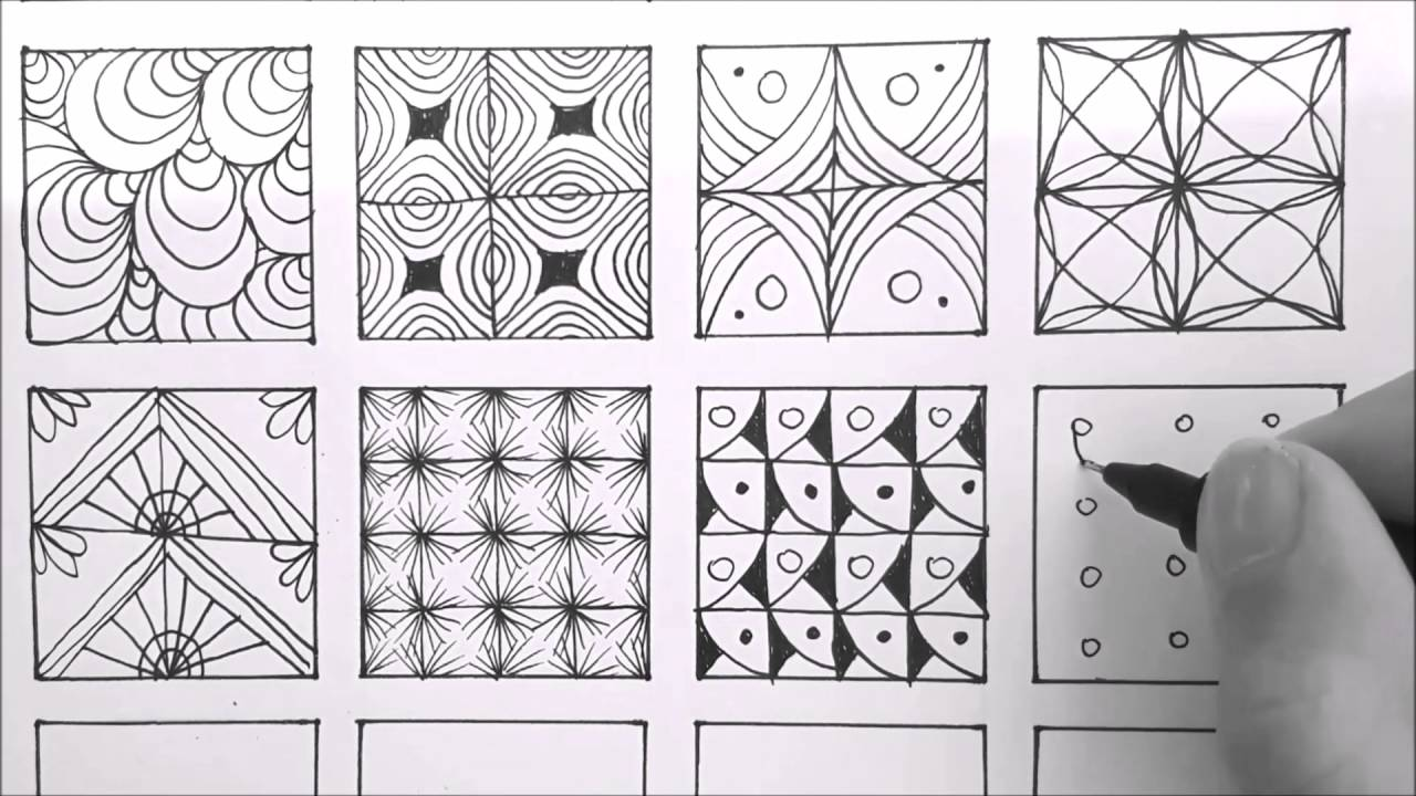 photograph regarding Zentangle Patterns Step by Step Printable identify Layouts For Doodling 24 Doodle Designs, Zentangle Behaviors, Mandala Routines
