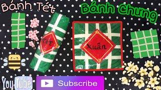Cách làm squishy giấy 3D Bánh Chưng, Bánh Tét! Paper squishy 3D Banh Chung, Banh Tet Viet Nam!