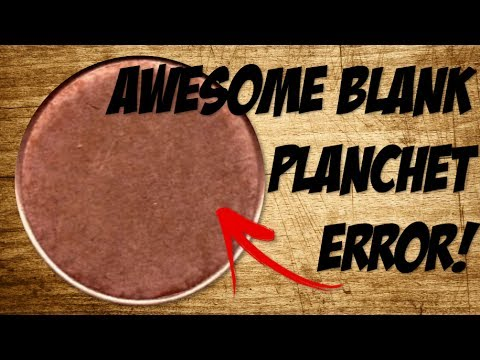 AWESOME BLANK PLANCHET ERROR! -Coin Roll Hunting-