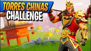 7 Torres Chinas CHALLENGE! Fortnite: Battle Royale
