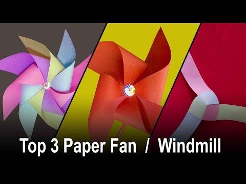 Top 3 Paper Fan  ll  Top 3 Windmill