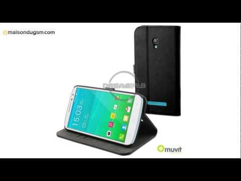 Etui Alcatel One Touch Pop S9 Muvit Slim Folio Noir