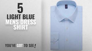 Top 10 Light Blue Mens Dress Shirt [ Winter 2018 ]: Alimens & Gentle Design Solid Color Regular Fit