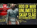 God of War New Game Plus UNLIMITED Skap Slag Tactic, Talisman Bug & More (God of War 4 New Game Plus