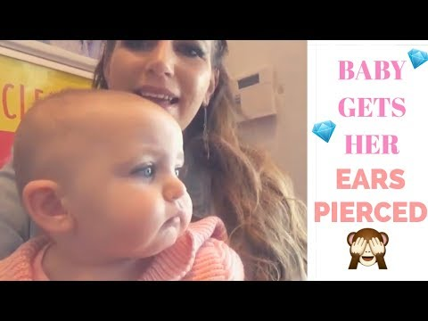 MY BABY GETS HER EARS PIERCED FOR HER BIRTHDAY!! | BABY EAR PIERCING | MOM OF TWO | DAY IN THE LIFE