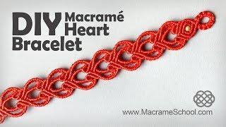 Celtic Style Heart Bracelet Tutorial by Macrame School