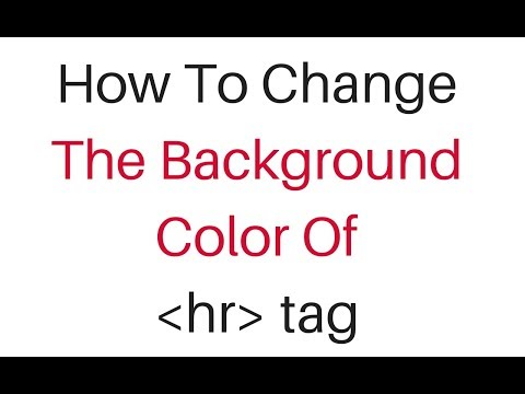 Background Color Change For Html Horizontal Line Hr Element Using Css