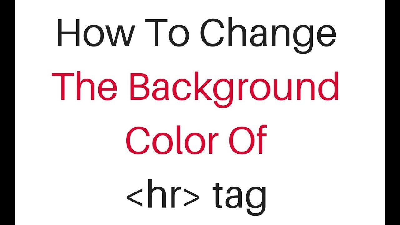 background color change for html horizontal line hr element using ...