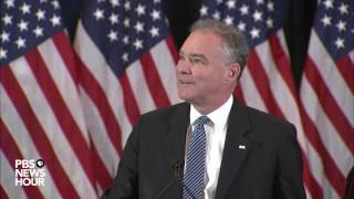 Watch Tim Kaine speak after Trump presidential victory