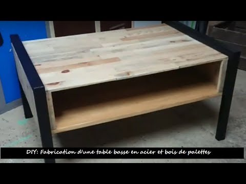 Diy Fabrication D Une Table Basse En Bois De Palettes Et Acier