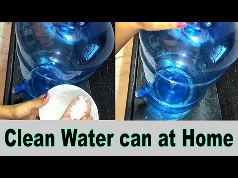 How To Clean Water Can without Brush in Telugu || best way to Clean Water Bubbles Telugu|kitchentips