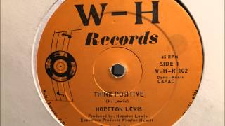 Hopeton Lewis - Think Positive [W-H Records]