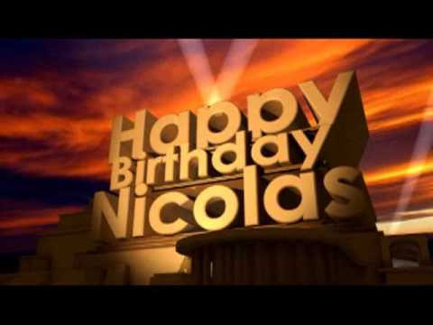 happy birthday nicholas Happy Birthday Nicolas   YouTube happy birthday nicholas