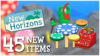 Animal Crossing New Horİzons - 45 NEW ITEMS Revealed (Mario Update)