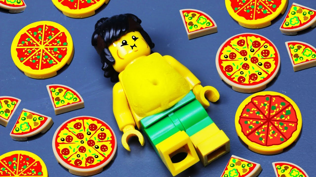 LEGO PIZZA EATING FAIL | LEGO CITY PIZZA VAN STOP MOTION