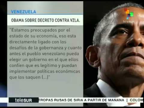 NOTICIERO BOLIVARIANA TELEVISION Obama reincide en su política injerencista contra Venezuela