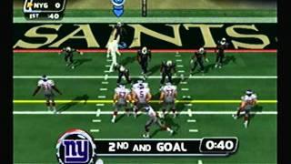 NFL Blitz 2003 - New York Giants at New Orleans Saints (1st Half)