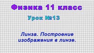 Физика 11 класс (Урок№13 - Линза. Построение изображения в линзе.)