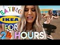 I only ate FOOD FROM IKEA for 24 hours- swedish food  (sweden lost lol)