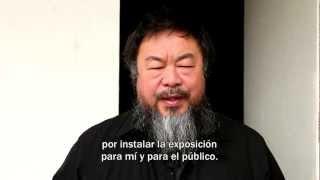 Agradecimiento de Ai Weiwei