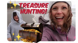 Treasure Hunting! The Goonie Beach & Sasquatch Footprints!!!