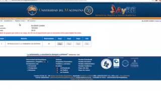 Registro de notas Universidad del Magdalena