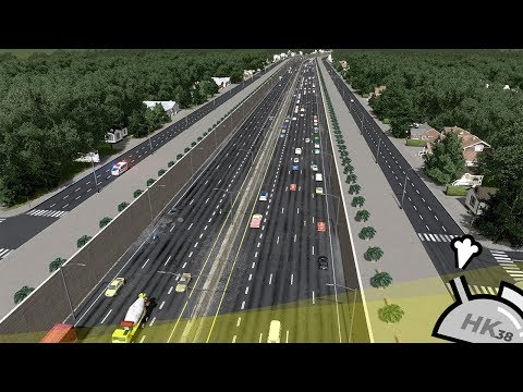 Cities: Skylines - Realistic Suburban Sunken Freeway