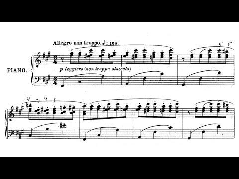 Felix Blumenfeld - Etude de concert Op. 24 (audio + sheet music)