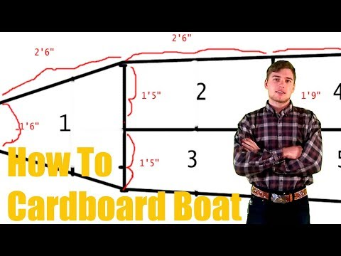 How to Build a Cardboard boat - That Wins!!
