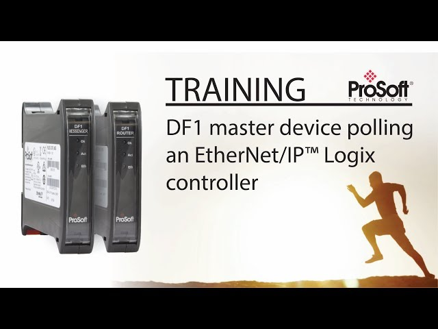 Set Up: DF1 master device polling an EtherNet/IP™ Logix controller