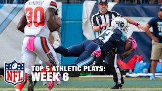 Top 5 Most Athletic Plays (Week 6) | NFL Now